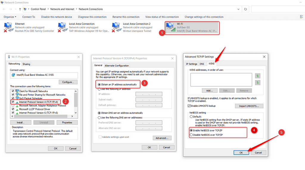 Change in TCP/IP setting - techvaio
