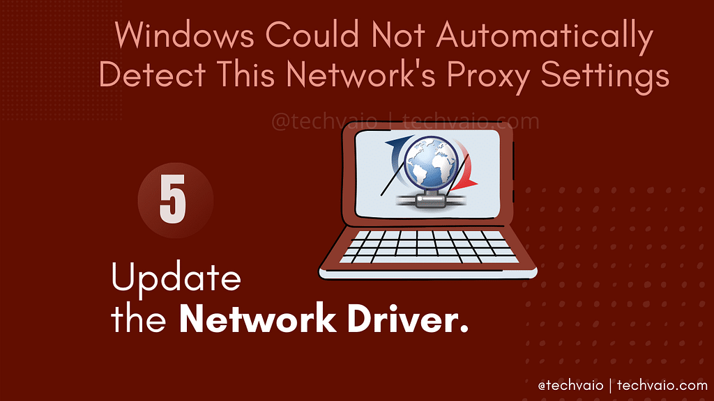 Update or Roll Back the Network Driver