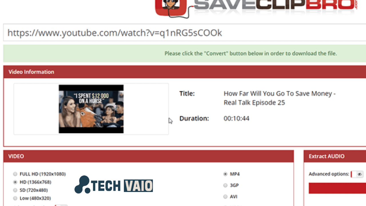 Saveclip pro youtube video download