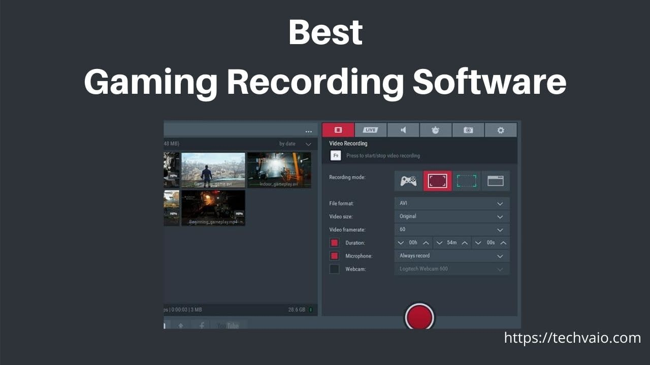 Best Gaming Recording Software