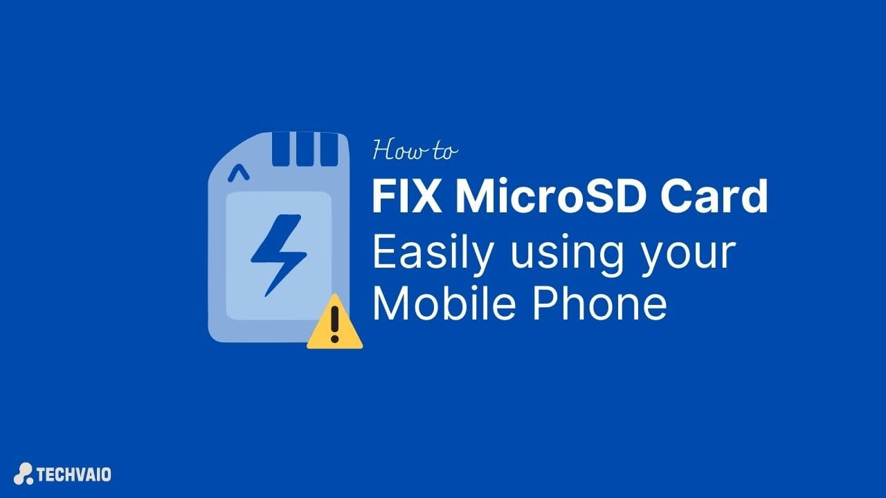 Fix Corrupted SD Card easily using your mobile phone
