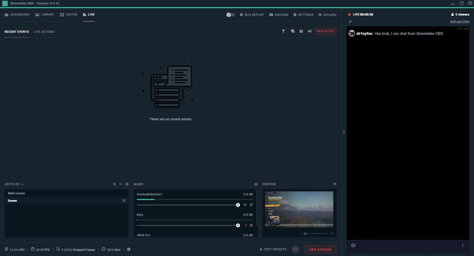 Streamlabs OBS recording software