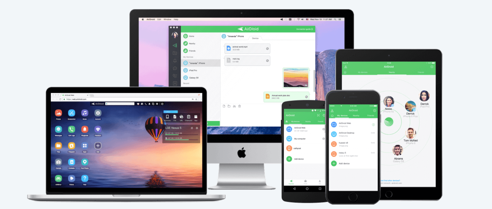 Airdroid Screen mirroring software