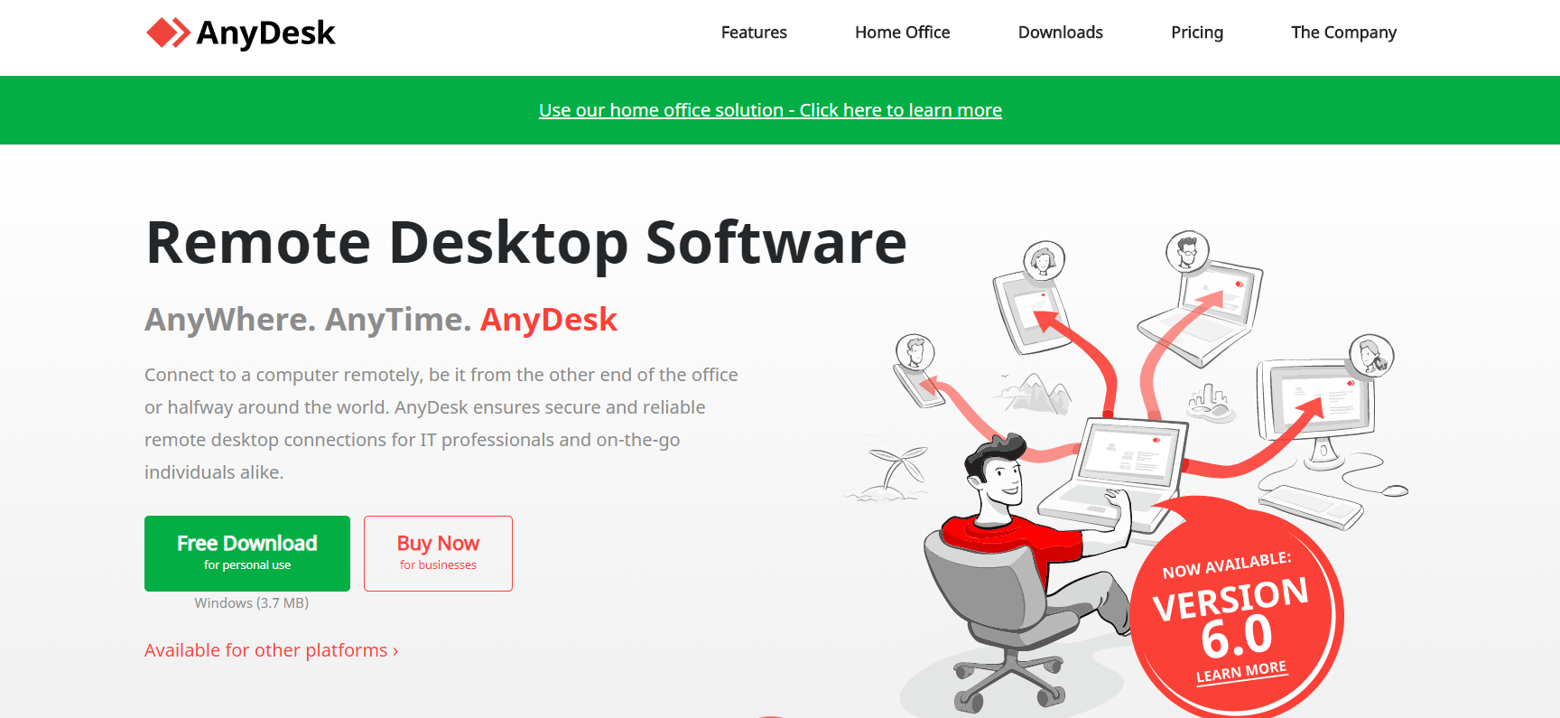 Anydesk screen sharing option