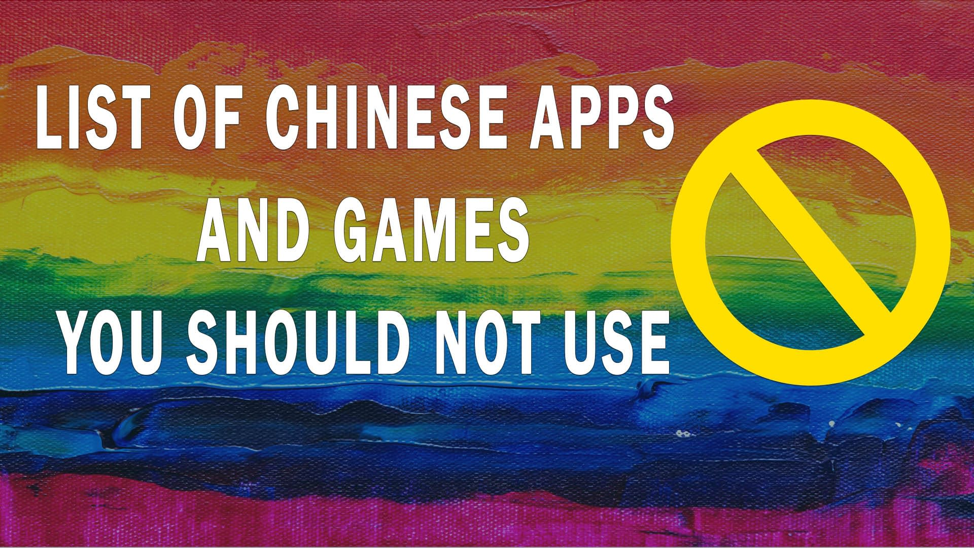 List of Most Popular 42 Chinese Apps and 20 Games in India