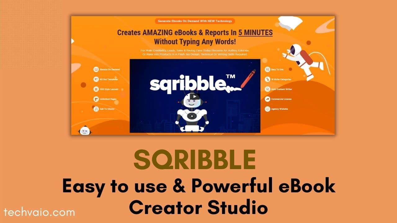 Sqribble Commercial Review 2021 | Worlds #1 Easy to use & Powerful eBook Creator Studio
